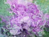 Large abstract giclee on canvas 30x40 Purple Haze
