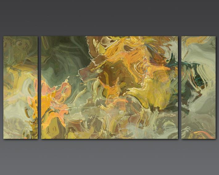 large triptych painting