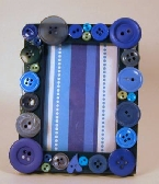 Blue button picture frame 2 X 3