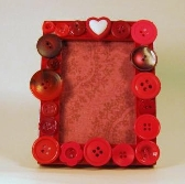 Red button frame 2 X 3