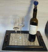 Serving tray from picture frame and sheet music