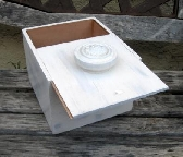Cigar box with whitewash finish and fancy drawer knob
