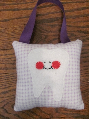 Purple Plaid Tooth Fairy Pillow