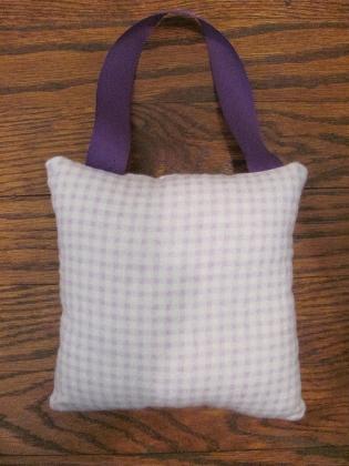Purple Plaid Tooth Fairy Pillow