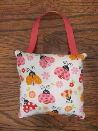 Pink Ladybug Tooth Fairy Pillow