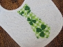 St Patricks Day Tie Applique Bib