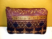 Clutch Purse in Purple Upholstery Fabric