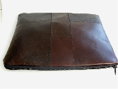 Brown Leather Clutch or iPad Case