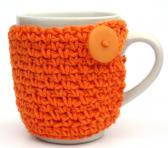 orange Coffee Cup Cozy Cup Cozies