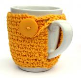 Yellow Coffee Cup Cozy