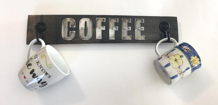 Barrel Stave Coffee Cup Hook
