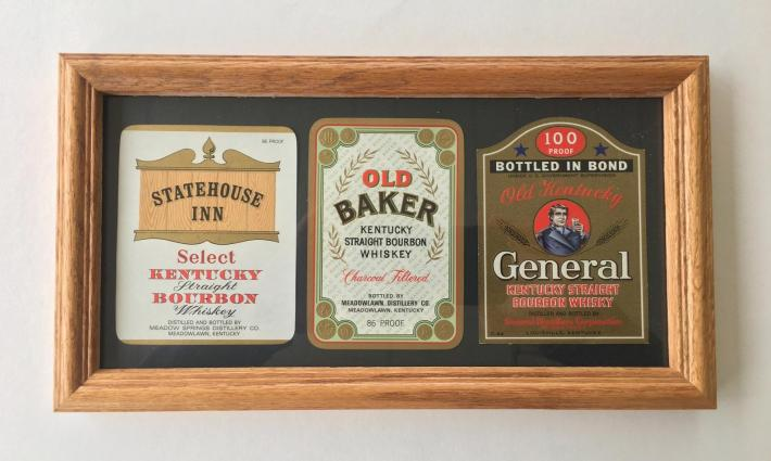 Bourbon Bottle Label Art