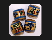 EGYPTIAN EYES Unique Handmade Beads