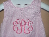 Boutique Infant or Toddler Bubble Romper with Monogram Personalized