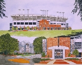 Print of Jordan Hare Stadium