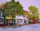Print of Main Street in Davidson NC by Michael Joe Moore