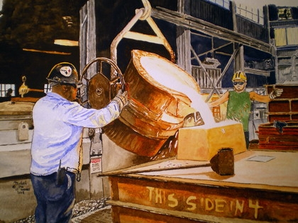 Steelers Pride Print from the Original Watercolor by Michael Joe Moore