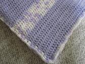 Crochet Lilac and vericated Baby Blanket with Hat