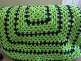 Lime Green and Blue Granny Ghan 38 x 38