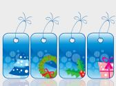 Set of Christmas Sale Tag Digital ArtClip Background