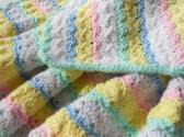 Baby Pastel Crochet Blanket   baby newborn shower gift toddler afghan