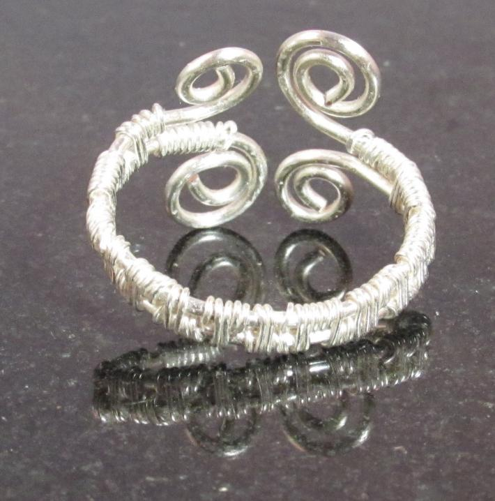 Wire Wrapped Swirl Ring