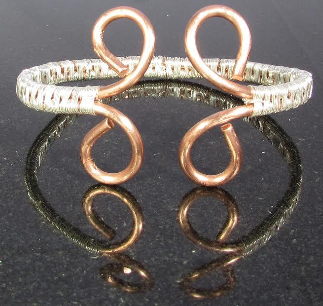 Copper and Silver Bracelet