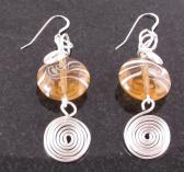 Champagne and silver earrings