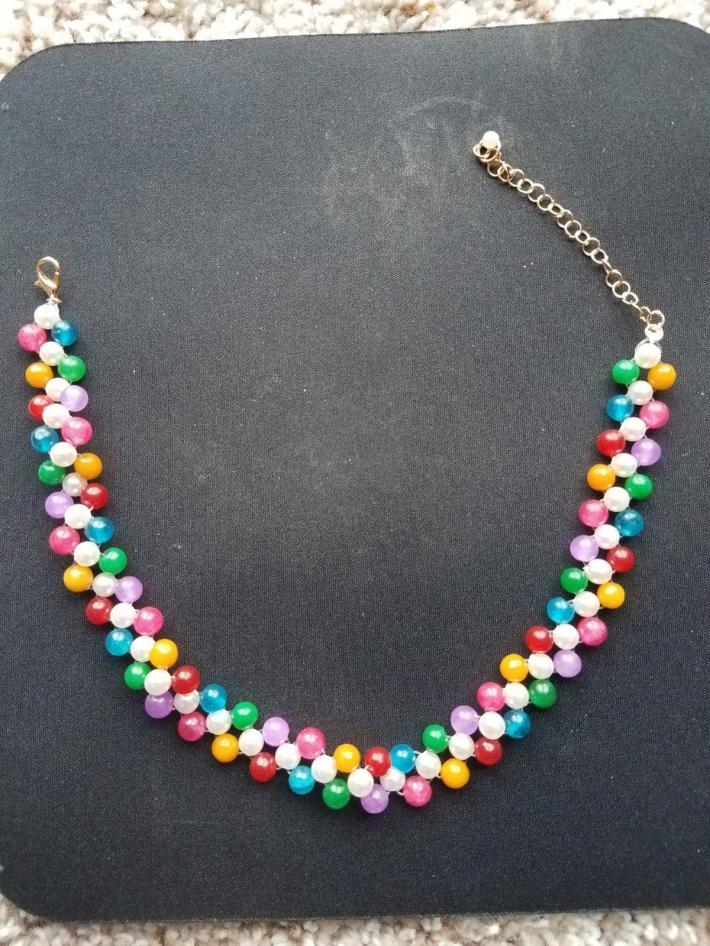 pearl bead choker