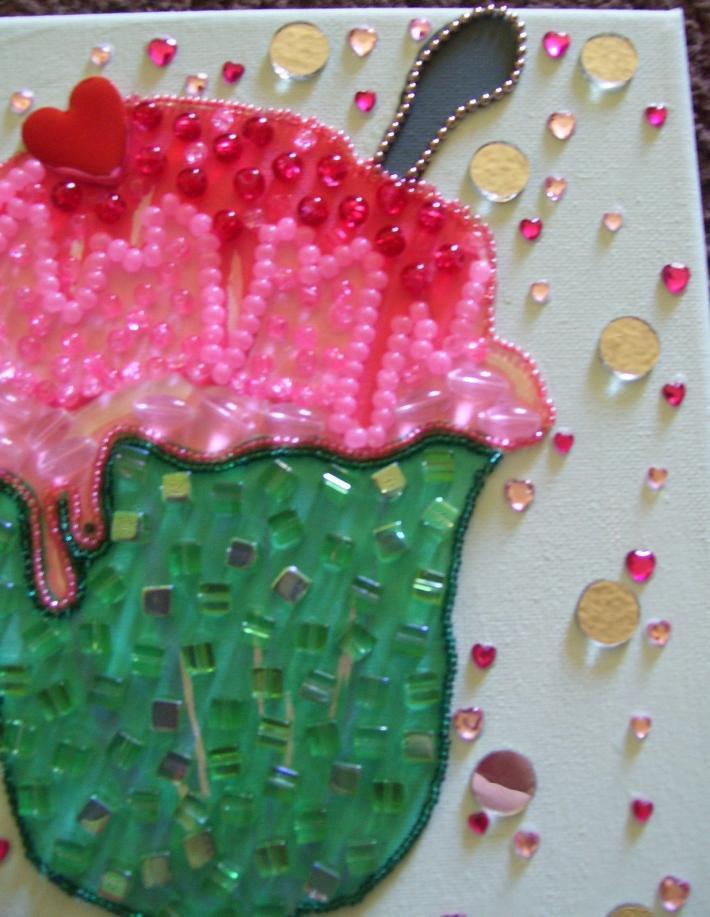 Mosaic Beaded Painting Ice Cream Sundae