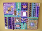 Mosaic Beaded Painting Squares Mirrors Hearts