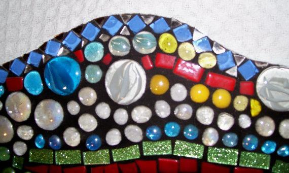 Jellyfish Mosaic wall art multi colored large