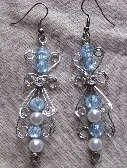 Blue Victorian Beaded Earrings