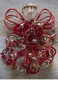 Red and Silver Fancy Angel Brooch