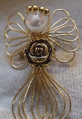 Gold Flower Angel Brooch