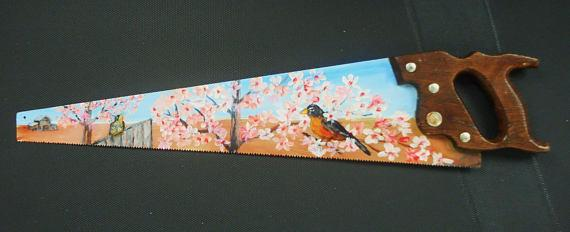 Robin and Cherry Blossom