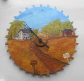 Farm Scene clock 10 inches