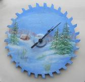 Winter scene on a 10 inch saw blade