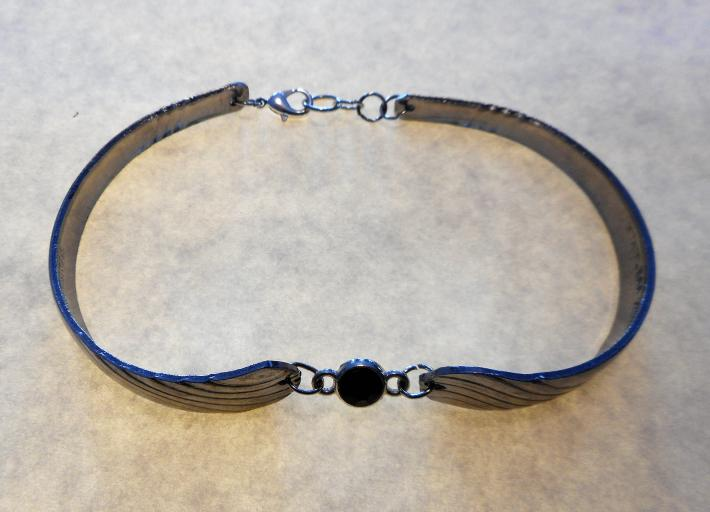 Blue gem spoon bracelet