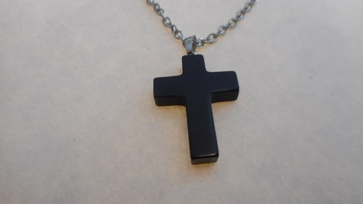 Cross Brown with Silver Chain