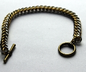 Bronze and bright aluminum Half Persian  bracelet