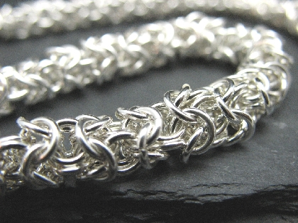 Sterling Silver Turkish Roundmaille Necklace