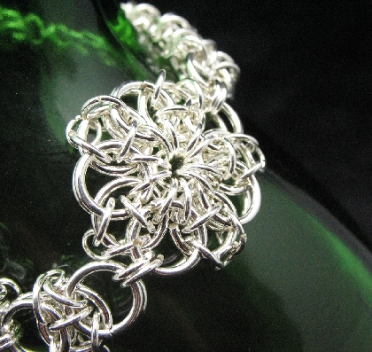 Sterling Silver Triple Celtic Chainmaille Bracelet