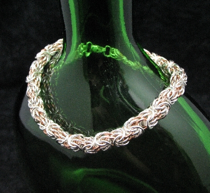 Sterling and Copper Tryzantine Bracelet
