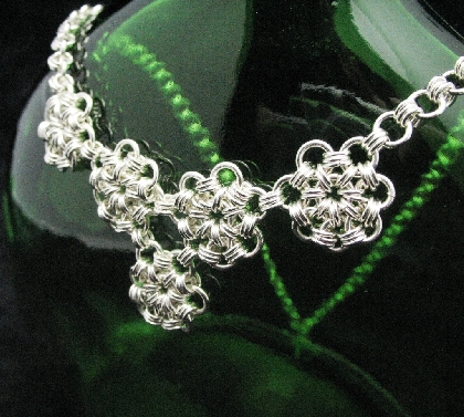 Sterling Silver Daisy Chain Necklace