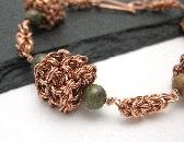 Copper Cubed Byzantine Bracelet