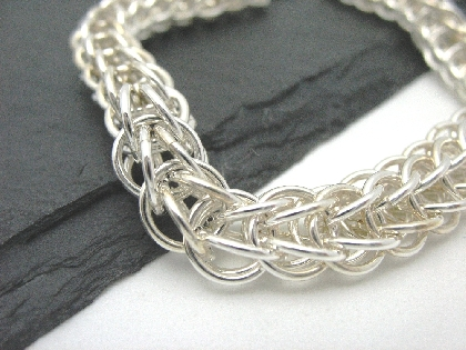 Sterling Silver Full Persian Chainmaille Bracelet