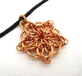 Copper Celtic Star Chainmaille Pendant