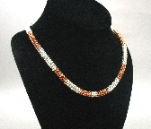 Sterling and Copper Roundmaille Necklace