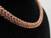 Copper Roundmaill Chainmaille Necklace